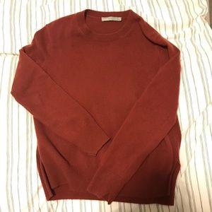 Vince Uneven Hem Cashmere Sweater