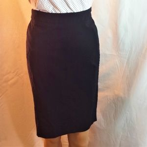 Black Bisou Bisou Pencil Skirt