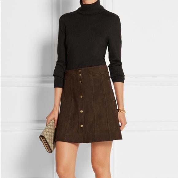 6b7843629 Frame Denim Skirts   Frame Suede Paneled Mini Skirt   Poshmark