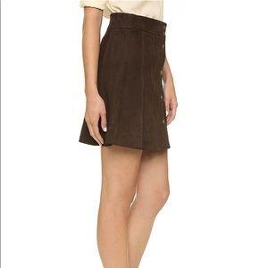 2dceae631 Frame Denim Skirts   Frame Suede Paneled Mini Skirt   Poshmark