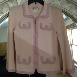 Nanette Lenore pink cashmere sweater