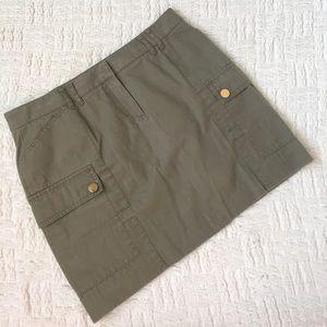 Tory Burch Olive Green Cargo Mini Skirt