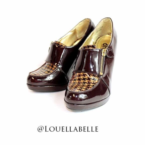 3d97655df0 Dollhouse Shoes - DH By Dollhouse Flare Pilgrim Pumps Size 7