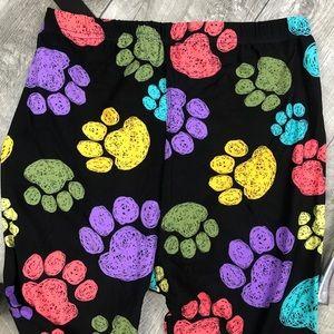 Pants - Butter Soft Paw Print Leggings OS