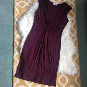 pretty plum/maroon calvin klein dress size 10