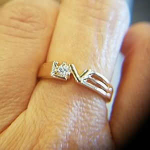 Jewelry - LOVE Ring Gold plated size 7.5