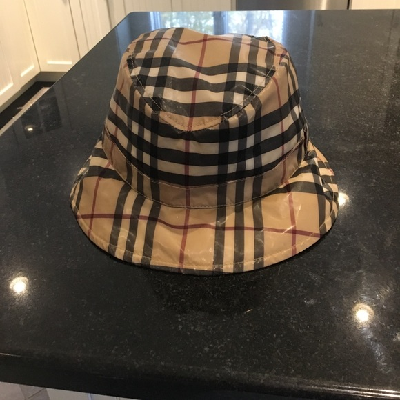Burberry Accessories - Women s authentic Burberry check rain hat size Med 68b138b42e98