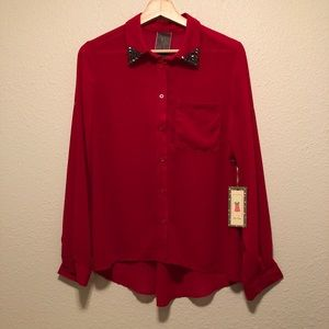 NWT Moon Collection Alice Moon Red Blouse