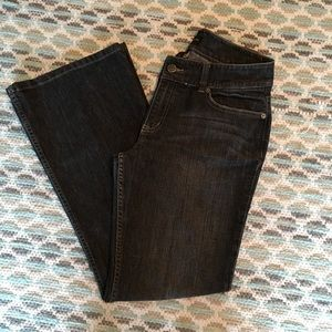 The Limited bootcut black wash jeans.