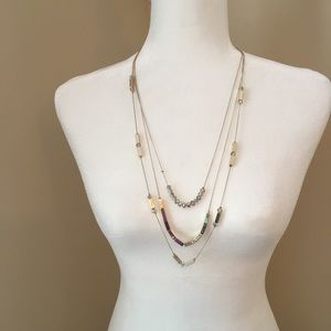 Jewelry - Triple Strand Gold tone Necklace