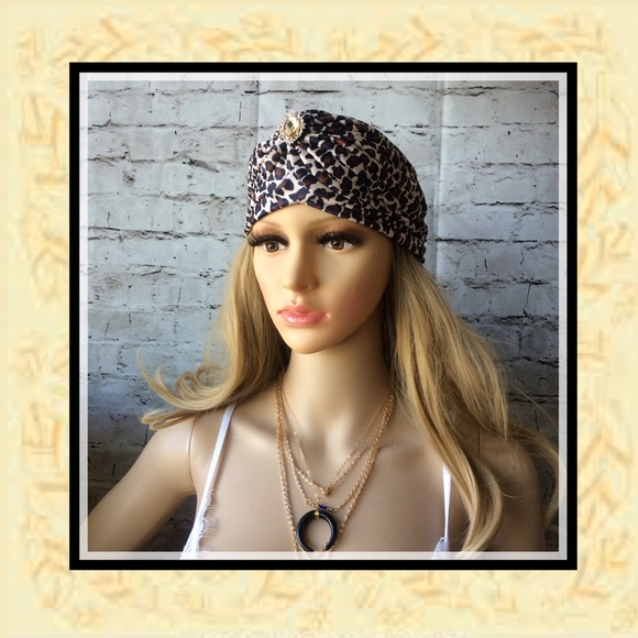 5d74abd44ddb Unique Styles hat Accessories | New Leopard Animal Print Turban Cap ...