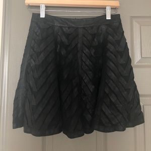 Alice & Olivia Leather A-line Skirt Size 2