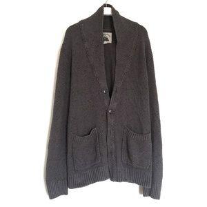 UO O'hanlon Mills grey knit sweater cardigan L