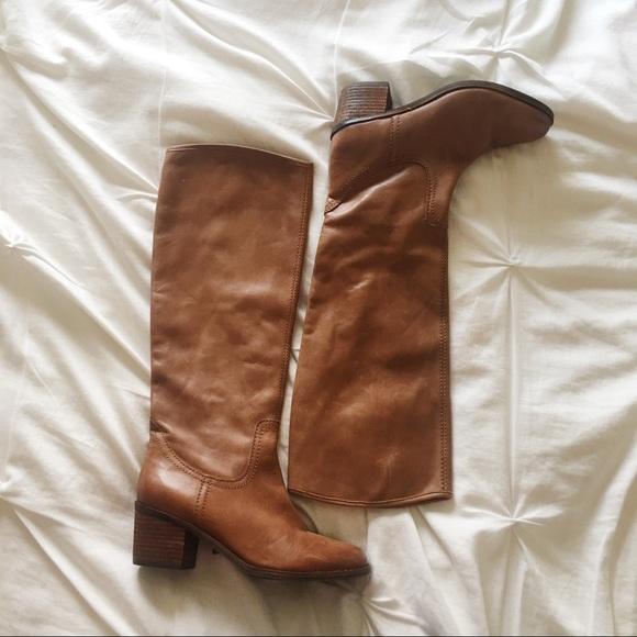5fa8347f66ce Sam Edelman Loren brown leather knee boots. M 5a01f1266a583071cd025930