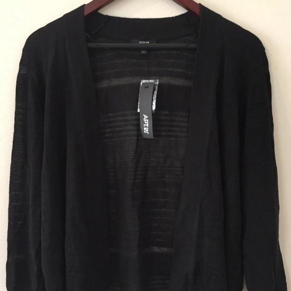 18e071b190 NWT Apt. 9 Cardigan Sweater Lightweight Sheer