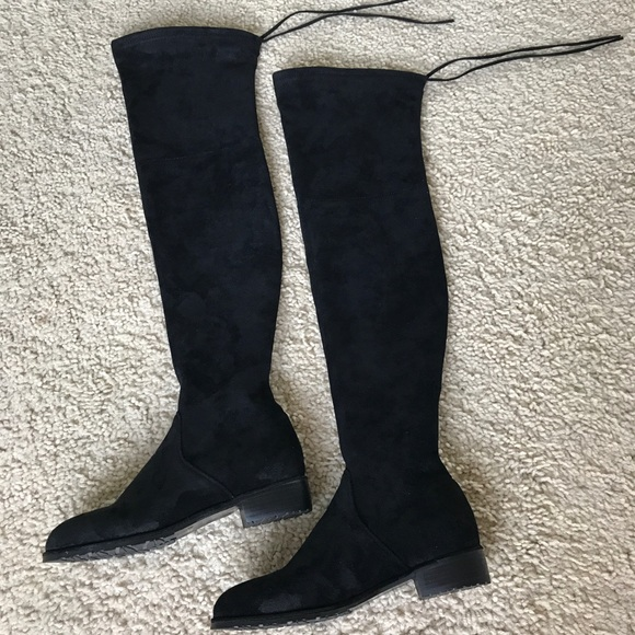 7f2312087cf Kaitlyn Pan Shoes - Kaitlyn Pan Lowland Over The Knee Boots 7.5 Black