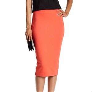 Coral Vince Camuto pencil skirt