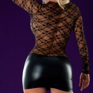 Wicked Temptations Dresses Long Sleeved Stretch Bodycon Mini Dress