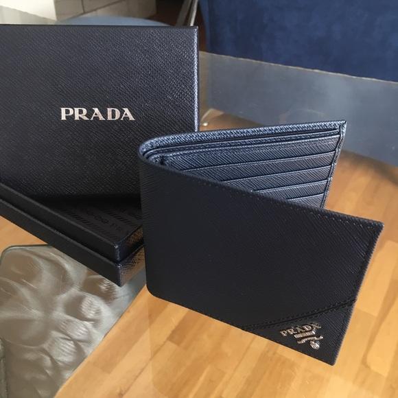 90a4076a58b0fd Prada Bags | Baltic Blue Saffiano Wallet | Poshmark