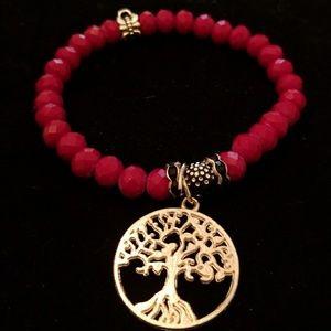 Handmade stone/ pendant bracelet