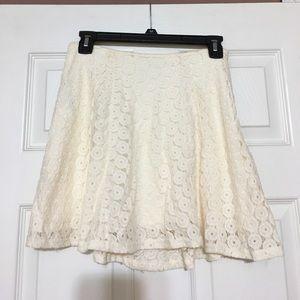 Dresses & Skirts - Ivory eyelet skirt
