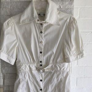 Bebe white shirt Sz XS