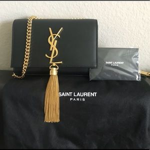 YSL Kate Monogram Tassel Small Chain Bag
