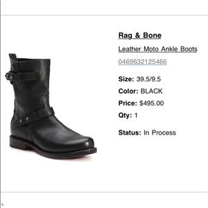 Rag & Bone leather black Moro boots