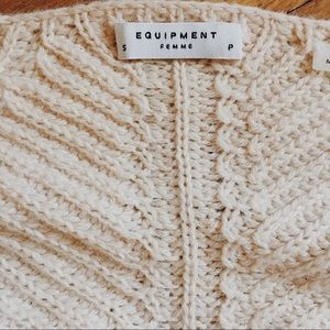 Equipment chunky knit sweater.