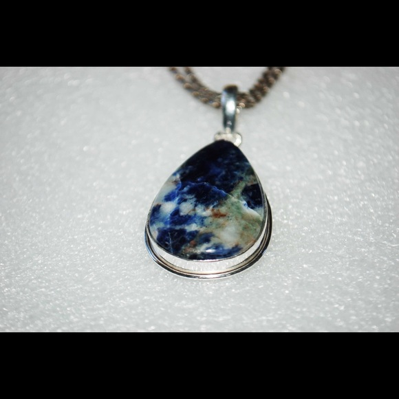 pendant wrapped wire sodalite necklace necklaces