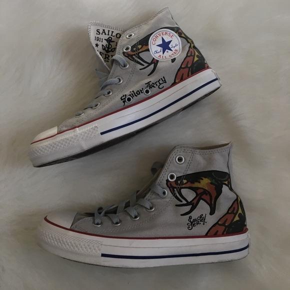 7fa0c2d830718 Converse Shoes - NWOT   Converse   Sailor Jerry hightop shoes