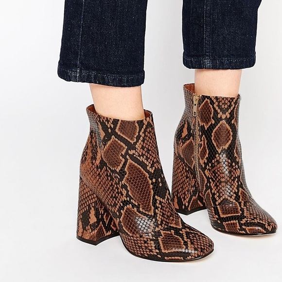 1427a1f0f5e ASOS • Edwina snakeskin boots