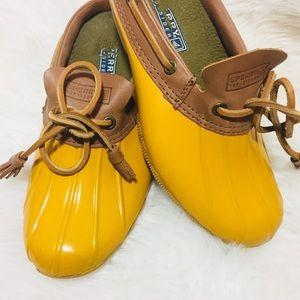 Sperry Cormorant Rubber Slip On Duck Boots Sz 6