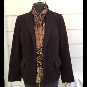 Soft and warm Brown blazer by Elements