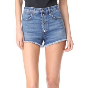 RAG & BONE Lou High Waist Shorts Blue Hill 23 24