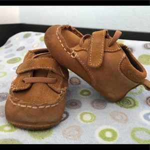 Leather Soft Sole Sz 3 Baby Toddler Moccasin Shoes