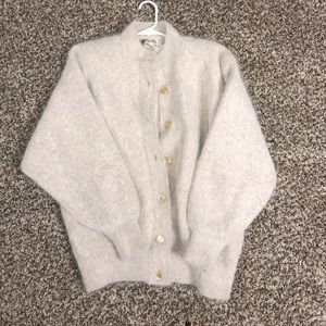 Light Pink/Beige Angora Sweater
