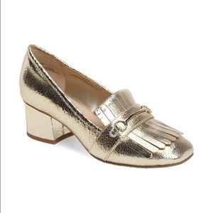BP Molley Loafer Pump GOLD CRACKLE LEATHER