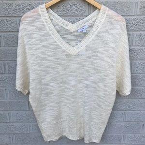NEW Gap Short Sleeve Double V-Neck Sweater