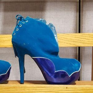 Blue Boot heels