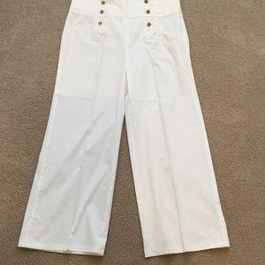 LAUREN RALPH LAUREN Navy style White Pants