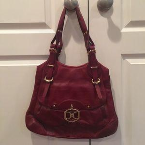 DKNY burgundy leather shoulder bag