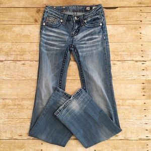 Girls Miss Me bootcut jeans, size 14