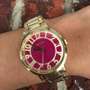 Accessories - Gold & Pink Watch