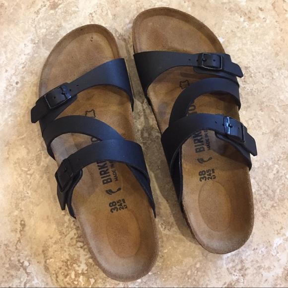b2870bf3e31bb Birkenstock Shoes - Birkenstock Salina Birko-Flor Black Sandals