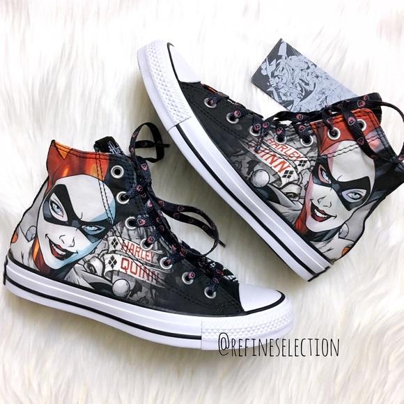 ae1fcca74408 Converse Harley Quinn Chuck Taylor Hi Top Sneakers