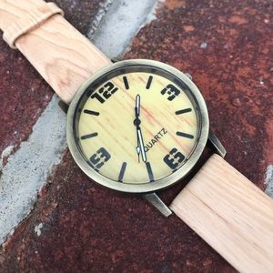 Accessories - Faux Wood Watch