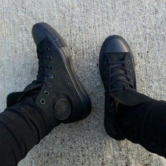 497c3b95bae Converse Shoes - BLACK CONVERSE HIGH TOPS (USED)