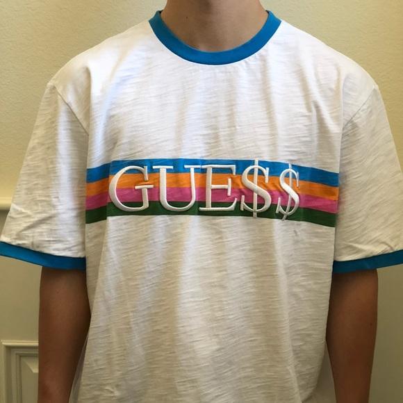 492c365b8d1b GUESS x ASAP Rocky Blue Ringer Tee Shirt XL. M_5a021c498f0fc43402030661