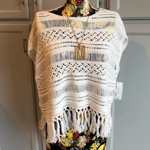 NWT a.n.a. Crotcheted Top